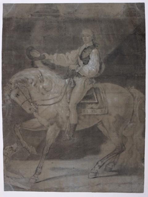 Portret Stanisława Potockiego na koniu - szkic nieznanego autora
