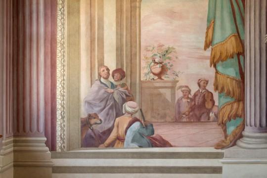 Fragment malowidła naściennego w Sali Uczt po konserwacji, fot. W. Holnicki.jpg