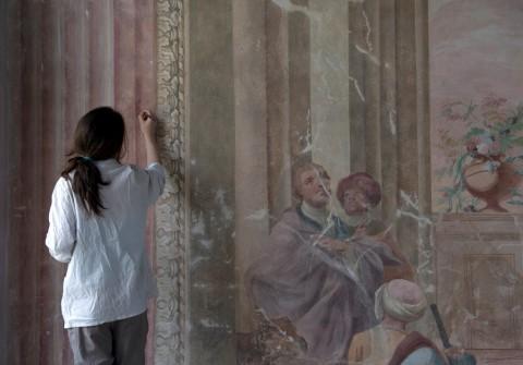 Konserwacja fresków w Sali Uczt, fot. W. Holnicki.jpg