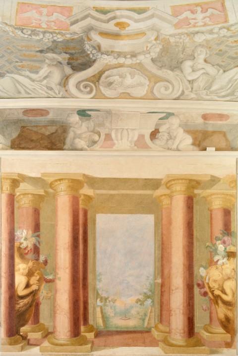 Malarska dekoracja ścienna w Pokoju Cichym po uzupełnieniach konserwatorskich, fot. W. Holnicki.jpg