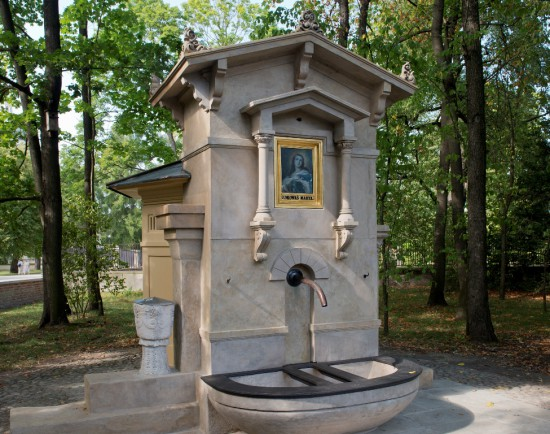 Studnia na dziedzińcu pałacowym po konserwacji, fot. W. Holnicki.jpg