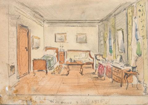 Wnętrze pokoju w Wilanowie