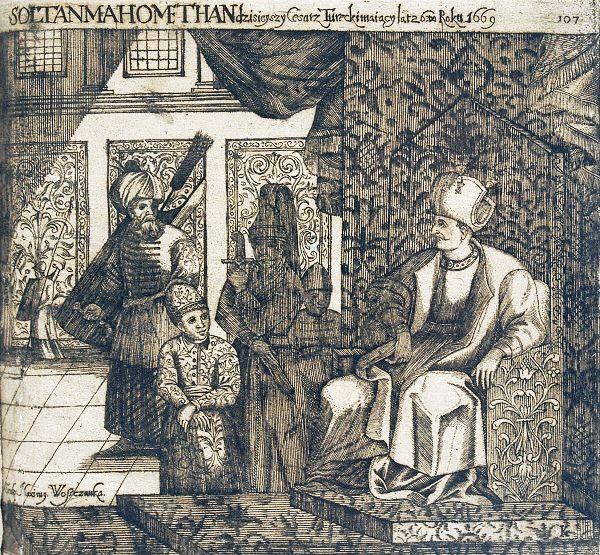 Muhammed IV w otoczeniu dworu