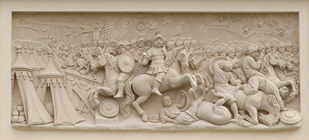 44_wojna chocimska, płaskorzezba na attyce palacu wilanowskiego, stefan schwaner, koniec xvii wieku..jpg