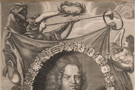 Arcyksiążę Johann Georg von Sachsen - portret na tle Bitwy pod Wiedniem w 1683 r_całość.jpg
