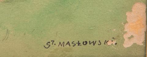 Z Willanowa_fragment z sygnaturą artysty