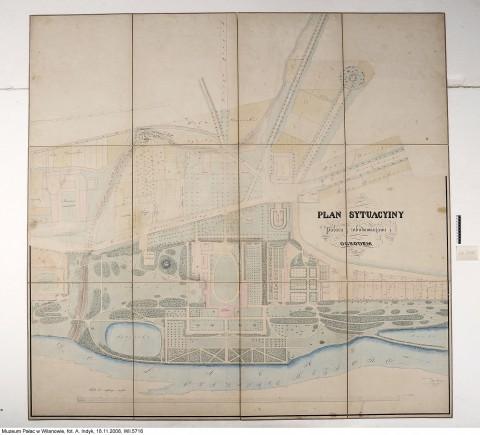 K. Schnage, Plan sytuacyjny pałacu z zabudowaniami i ogrodem w Wilanowie, 1845-1848, Wł.: Muzeum Pałacu Króla Jana III w Wilanowie