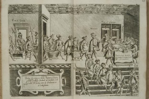 44_uczta_sluzba wniosi jadlo na stol_anonimowy miedzioryt wenecji 1643.jpg