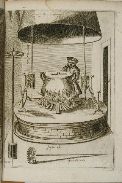 44_wnetrze kuchni z kotlem na palenisku pod okapem_anonimowy miedzioryt wenecki 1643.jpg