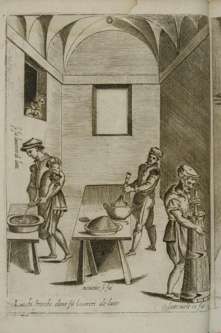 44_wnetrze kuchni z trzema kuchcikami_anonimowy miedzioryt wenecki 1643.jpg