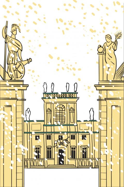 Pałac w zimowej aurze. Autor Greta Samuel..jpg