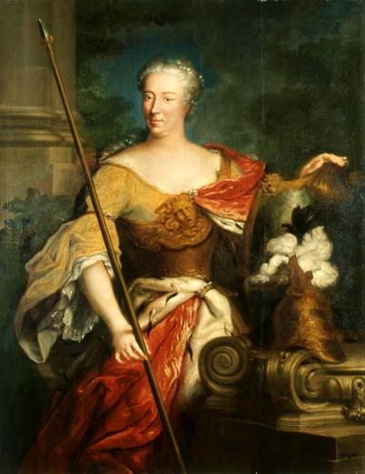 Elżbieta Sieniawska jako Minerwa