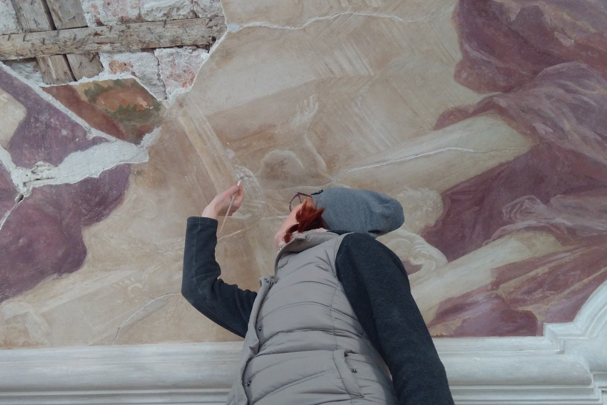 Prace przy malowidłach