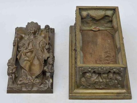 Miniatura Sarkofagu Kazimierza Jagiellończyka-otwarta