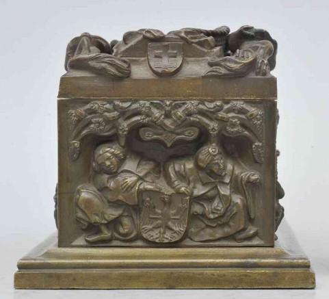 Miniatura Sarkofagu Kazimierza Jagiellończyka-tył
