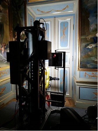 Zrobotyzowany system pomiarowy w czasie pracy w Antygabinecie Królowej.jpg