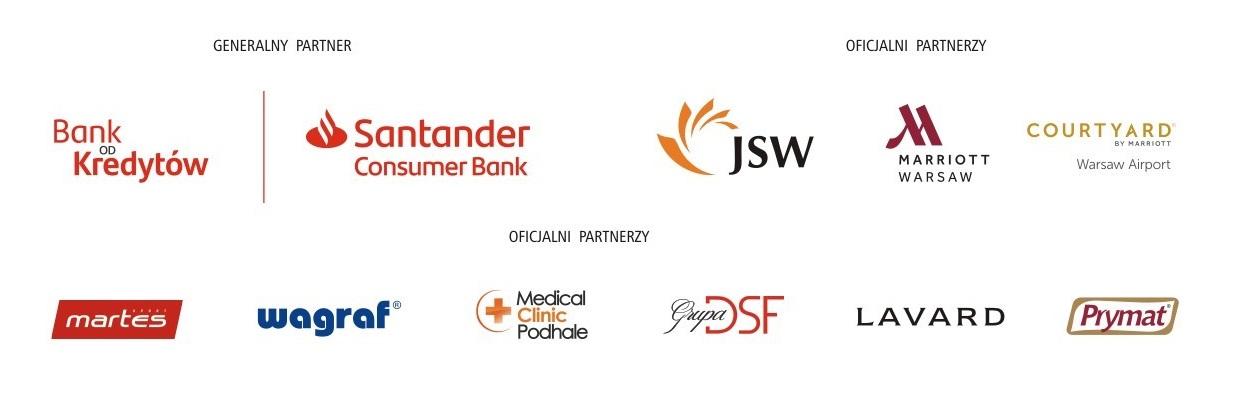 Zestaw znaków partnerów i sponsorów