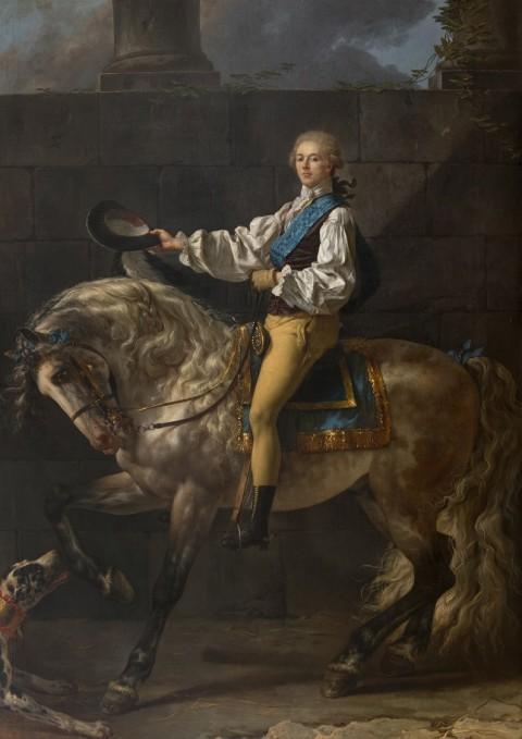 Il.1. Jacques-Louis David, Portret konny Stanisława Kostki Potockiego, 1780–1781, nr inw. Wil.1779