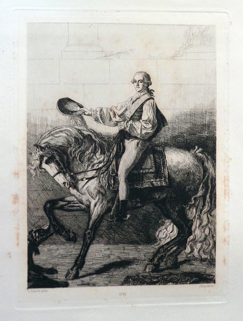 Il. 8. J.-L.-Jules David, Le Comte Potocki (1781). H. 3,00 – L. 2,00 – Gr. nat. Appartient la Comtesse Potocka, L. David pinx. J. David, ok. 1880, il. w: Jacques-Louis-Jules David, Le peintre Louis David 1748–1825. Souvenirs & documents inédits