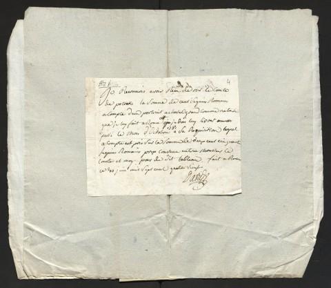 Il. 14. Pokwitowanie wystawione przez Davida S. K. Potockiemu w Rzymie w 1780 r., AGAD, AGWil, AGP sygn. 28, s. 4