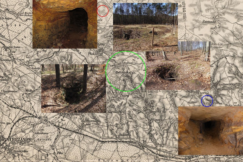 pozostałości po wydobyciu galmanu
