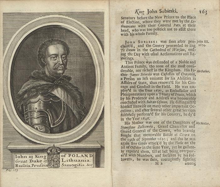 Portret Jana III Sobieskiego, rycina z dzieła