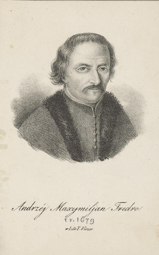 Portret Andrzeja Maksymiliana Fredry, rycina Teodora Viviera, ok. 1835; Muzeum Narodowe w Krakowie