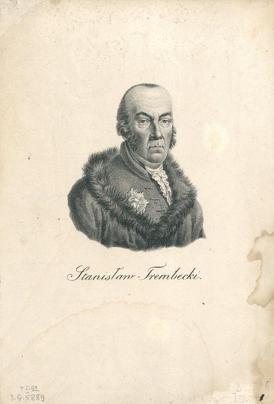 Portret Stanisława Trembeckiego, rycina z ok. 1801-1850; Biblioteka Narodowa