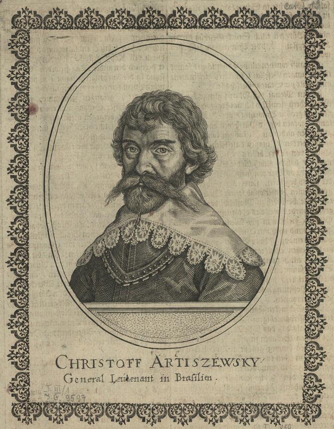 Portret Krzysztofa Arciszewskiego, rycina z 1639; Biblioteka Narodowa