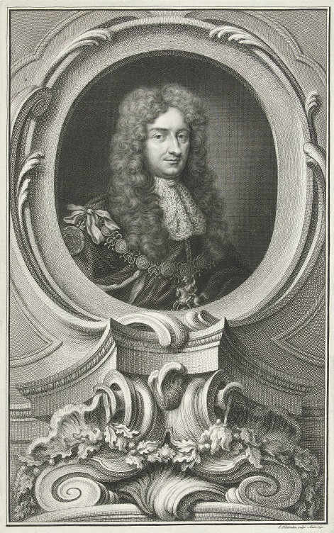 Portret Laurence'a Hyde'a hrabiego Rochester, rycina Jacoba Houbrakena wg Gottfrieda Knellera, 1741; Rijksmuseum