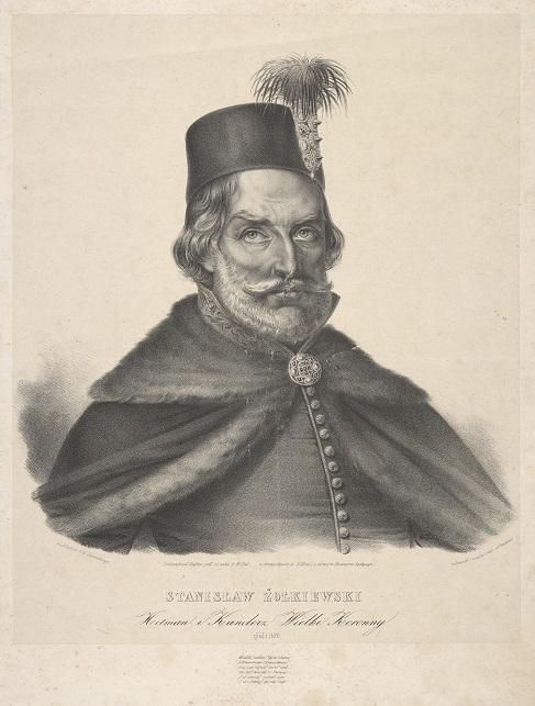 Portret Stanisława Żółkiewskiego, rycina Carla Heinricha Steffensa, ok. 1844; Biblioteka Narodowa