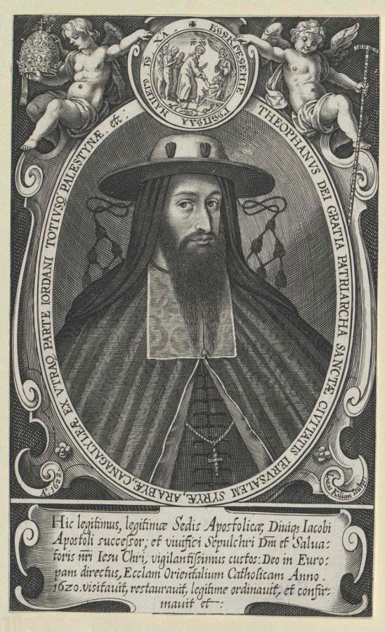 Portret Teofanesa III (1570 - 1644), rycina anonimowego rytownika; europeana collection/Österreichische Nationalbibliothek