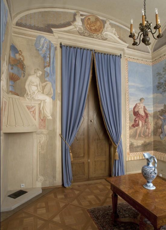Gabinet Al Fresco w pałacu wilanowskim - jedno ze skanowanych pomieszczeń, fot. Agnieszka Indyk, Muzeum Pałacu Króla Jana III w Wilanowie.jpg