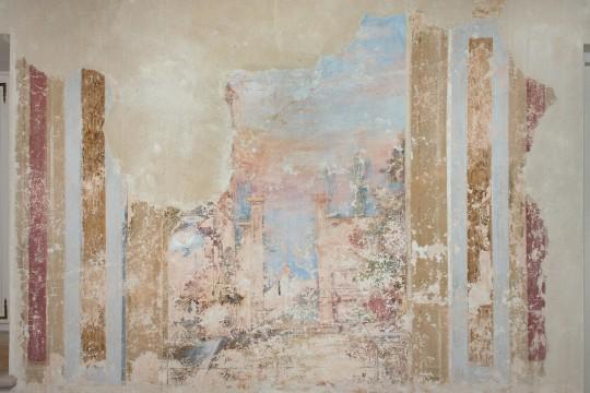Odkryte freski na piętrze pałacu wilanowskiego, fot. Zbigniew Reszka, Muzeum Pałacu Króla Jana III w Wilanowie.jpg