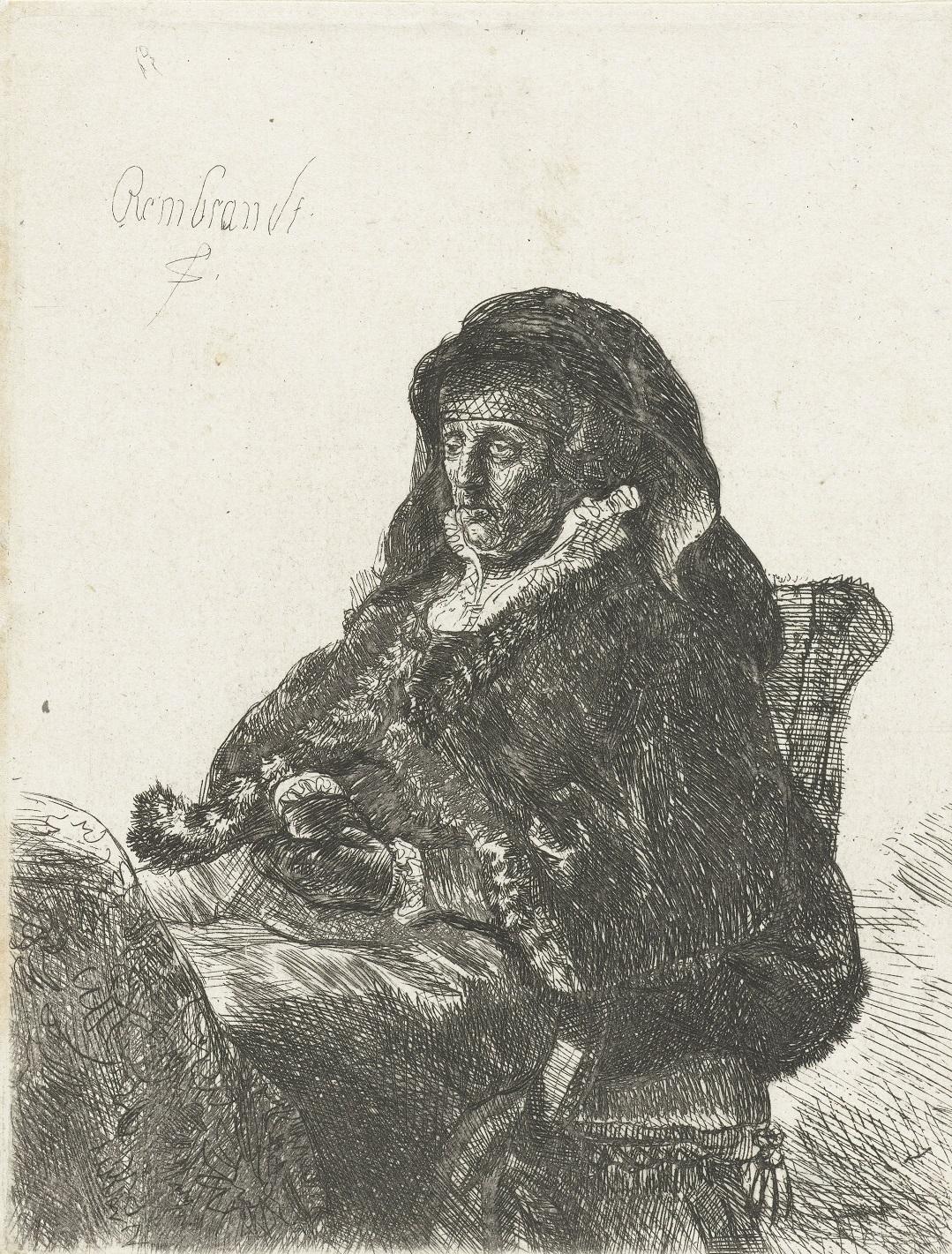 Portret starej kobiety