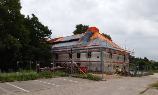 Remont dachu Słodowni, lipiec 2020 r., fot. K. Pyzel