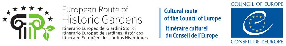 Logo Europejskiego Szlaku Ogrodów Historycznych