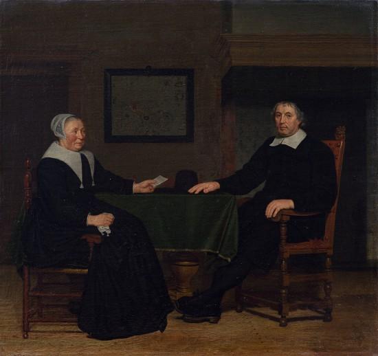 1. Portret Adriaena Corvera (zm. 1697) i jego żony Rijckie Teuling (zm. 1693)_Wil. 1697 Widok ogólny - lico.jpg