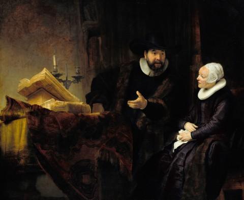 9. Rembrandt - Cornelis Anslo i jego żona.jpg
