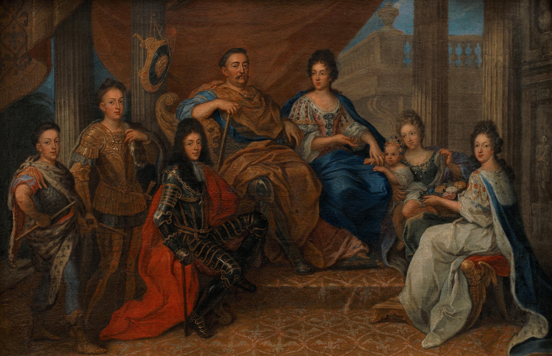 Portret króla Jana III w otoczeniu rodziny
