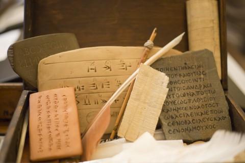 Kaligrafia, Podkłady piśmiennicze, fot. M. Mastykarz.jpg