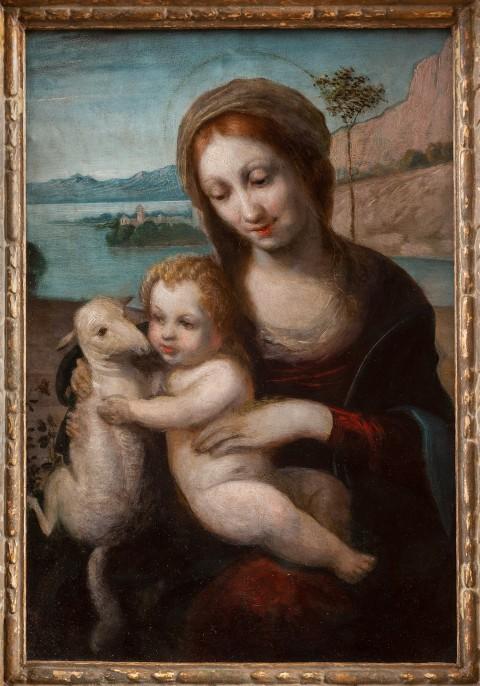 Obraz Madonna z Dzieciątkiem i barankiem został wypożyczony z Kolekcji książąt Lubomirskich.jpg
