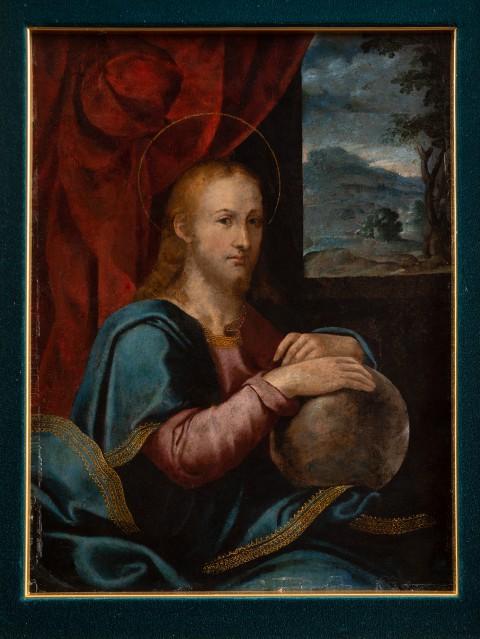 Chrystus Zbawca Świata (Salvator Mundi) z prywatnej kolekcji księdza Waldemara Sierpińskiego.jpg
