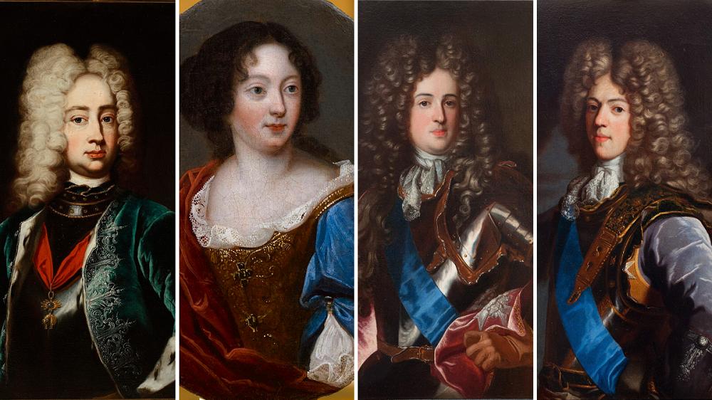 Dzieci króla Jana III - Jakub Ludwik, Teresa Kunegunda, Aleksander Benedykt i Konstanty Władysław