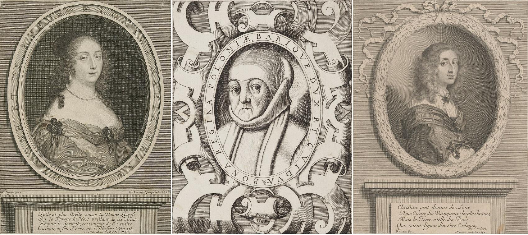 Ludwika Maria Gonzaga, Bona Sforza i Krystyna Szwedzka