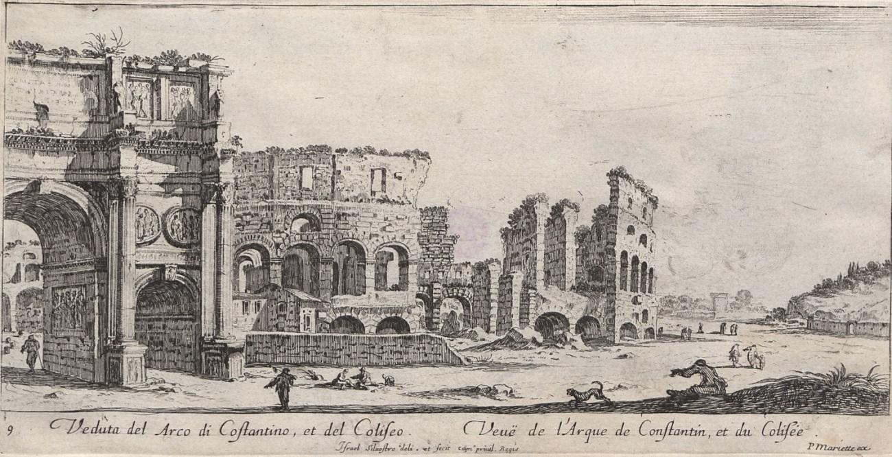Łuk Konstantyna i Koloseum w Rzymie