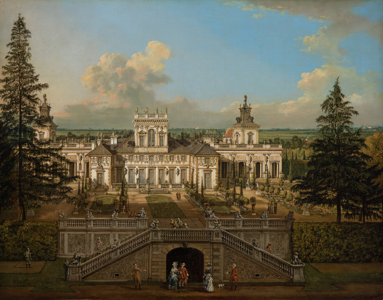 Pałac w Wilanowie od ogrodu