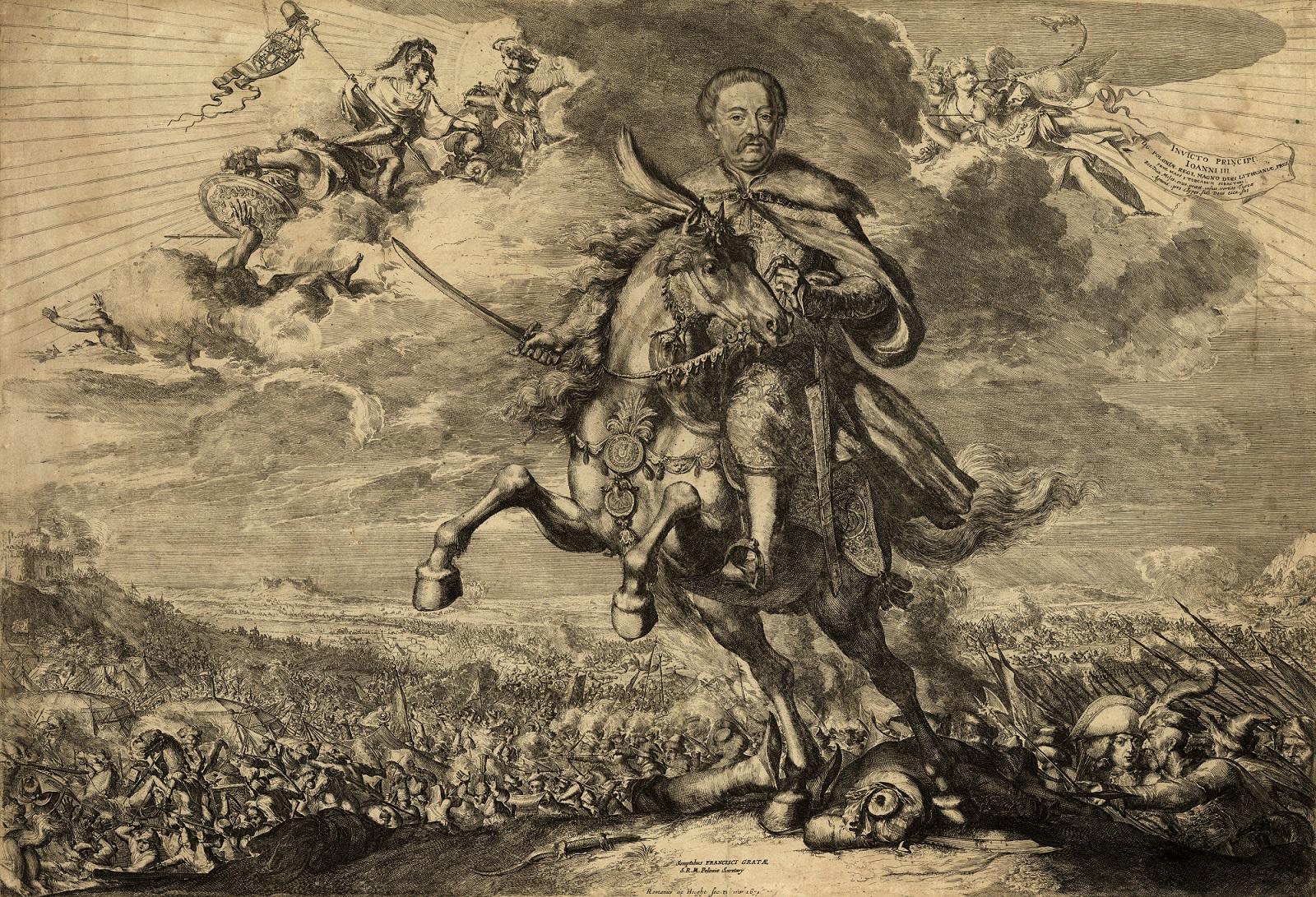 Gloryfikacja Jana Sobieskiego na tle bitwy pod Chocimiem w 1673