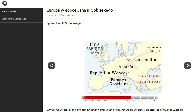 Rozpoczęcie e-learningu Europa w epoce Jana III