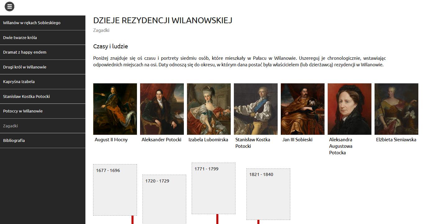 Rozpoczęcie e-learningu Dzieje rezydencji wilanowskiej
